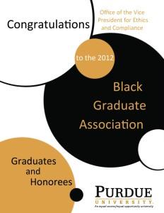 Black Graduate Association Ad.