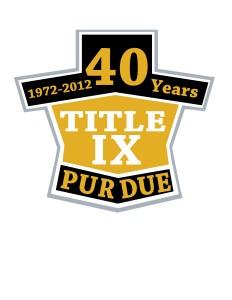 40 Years of Title IX Logo Design 1