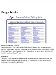 Design Results